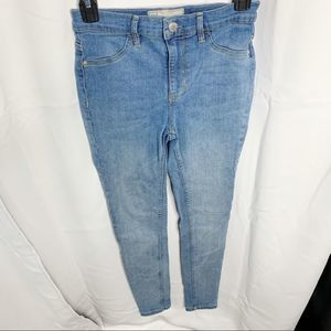 Free people high-rise skinny 26R light wash jeans